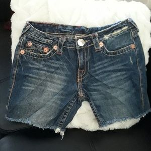True Religion shorts size 28